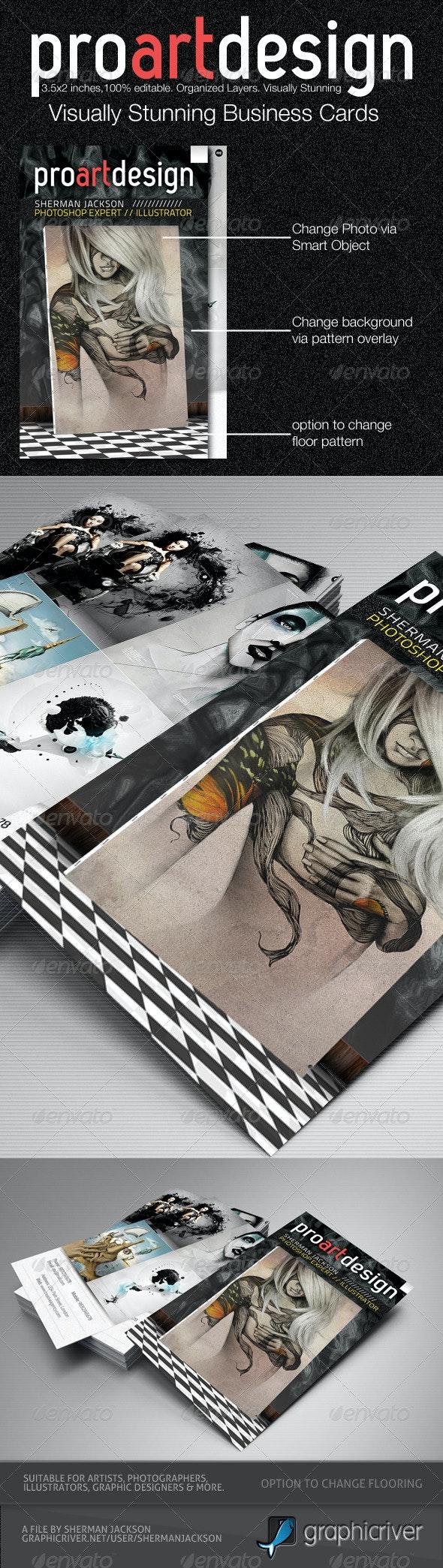 Pro Design - Artistic Business Card Vol.2 PSD - Creative Business Cards