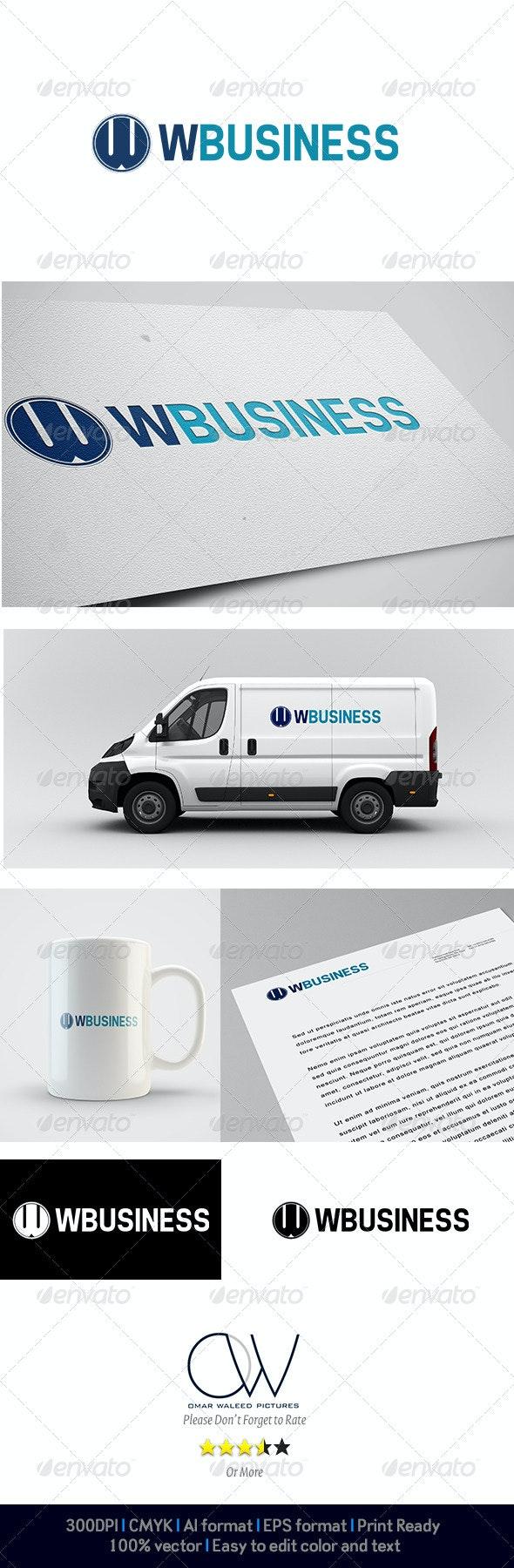 W business Logo - Letters Logo Templates