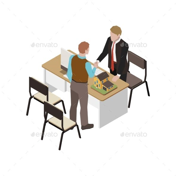 Real Estate Agency Illustration