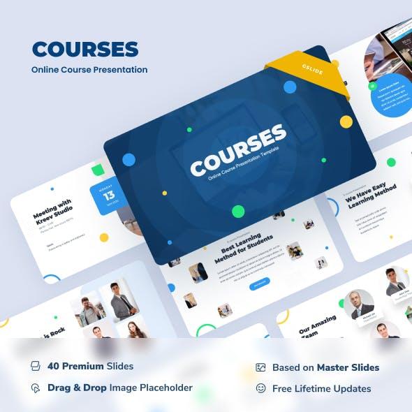 Courses - Education Google Slides Presentation