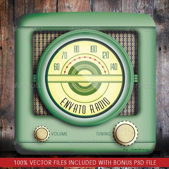 Internet Radio App Icon - Objects Illustrations
