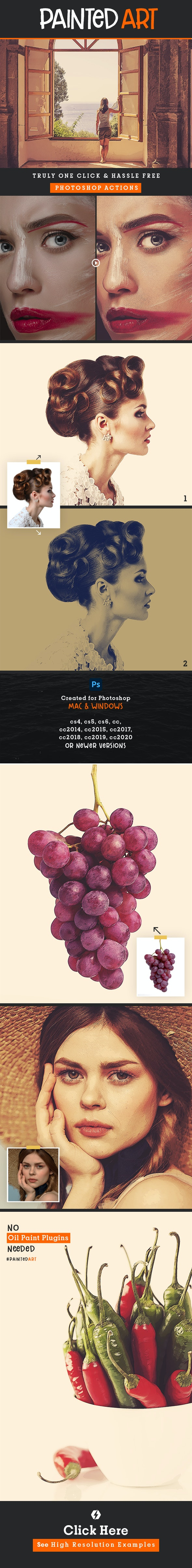 Realistic Painting - Artistic Photoshop Actions - Photo Effects Actions