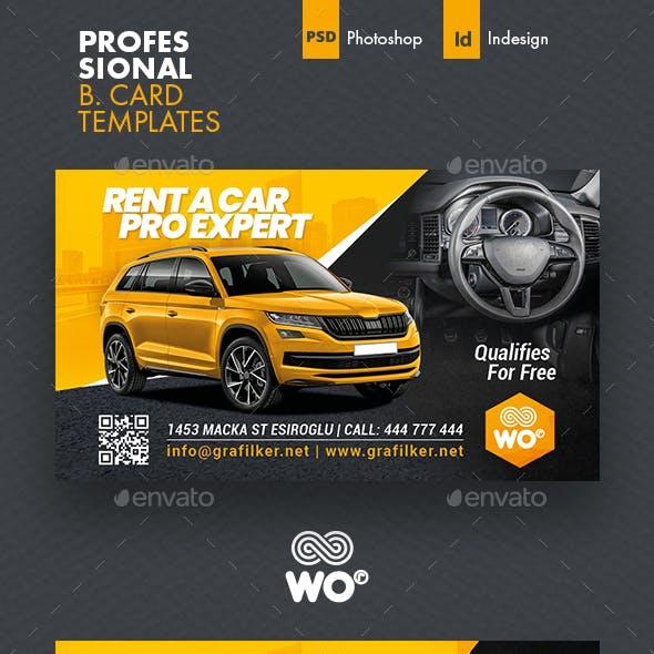 Car Sales Business Card Templates