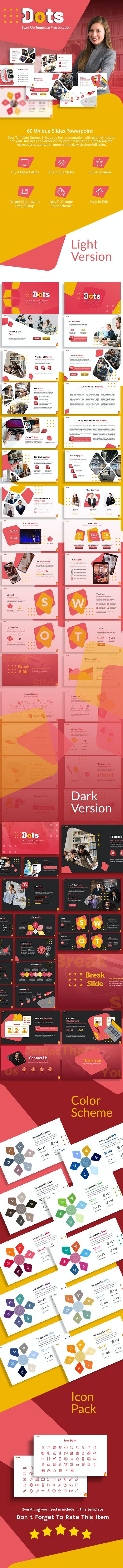 Dots Startup Presentation Template - Creative PowerPoint Templates