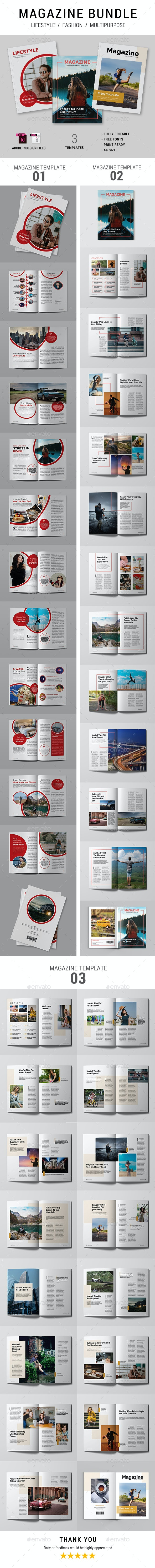 Magazine Template Bundle - Magazines Print Templates
