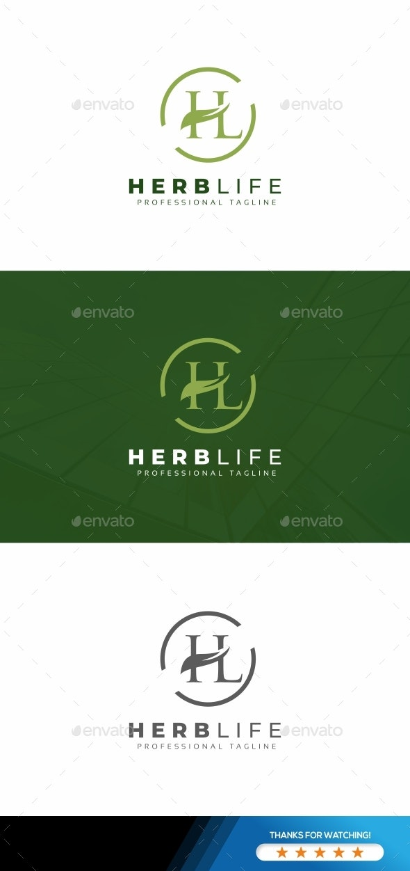 H and L Letter Logo - Letters Logo Templates