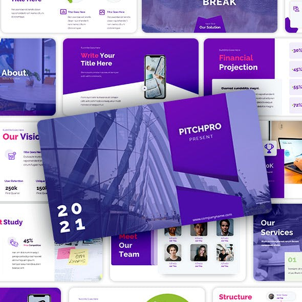 Pitchpro – Pitchdeck Keynote for Digital Startup and Agency.