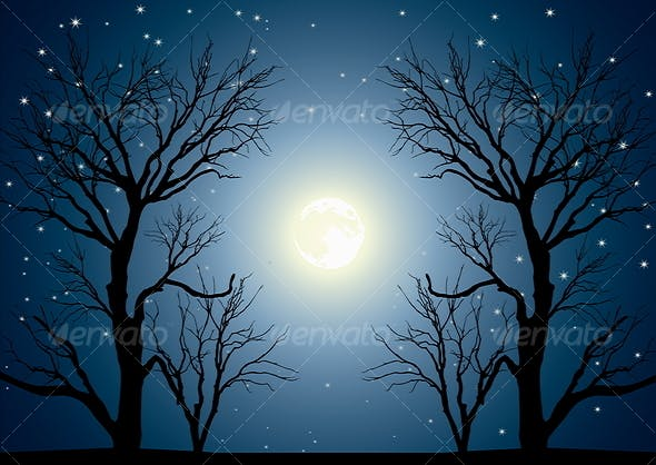 Moon Trees By Jut13 Graphicriver