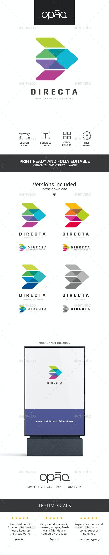 Colorful Arrow Side Logo - Abstract Logo Templates