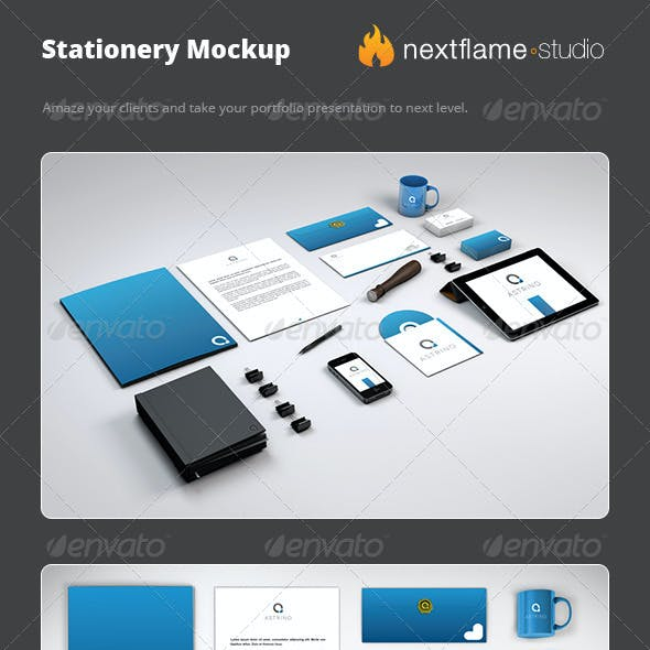 Stationery Mockup Pack - Smart Obejcts