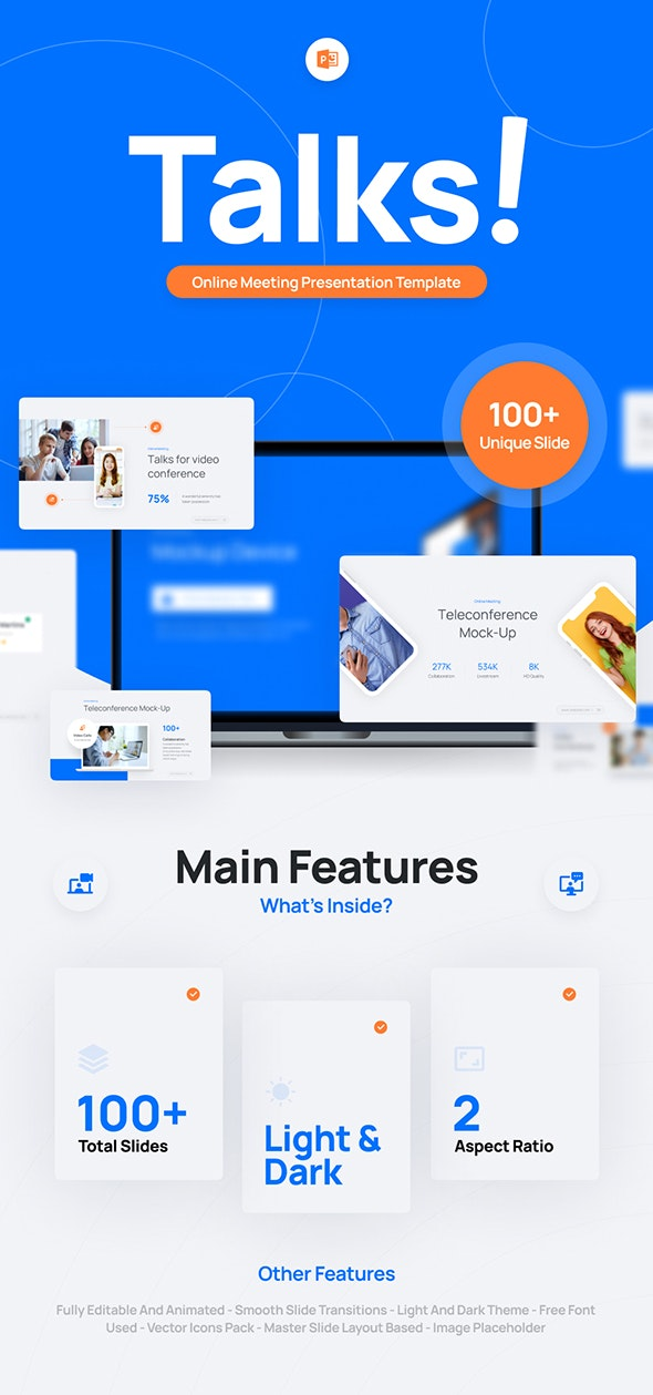 Talks Zoom PowerPoint Presentation Template Fully Animated - Business PowerPoint Templates