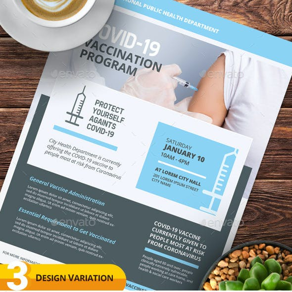 Covid-19 Vaccination Flyer Templates