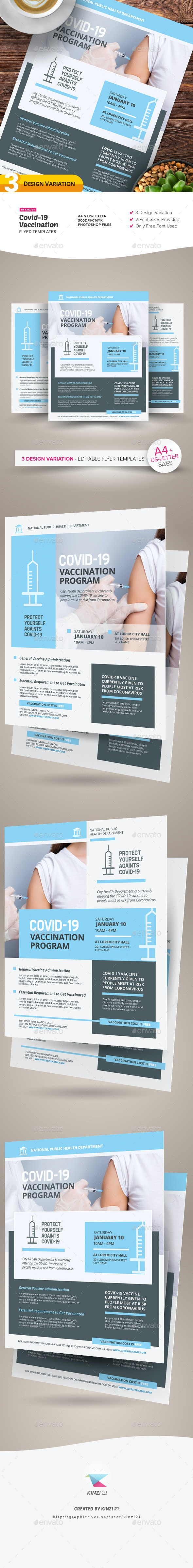 Covid-19 Vaccination Flyer Templates - Corporate Flyers