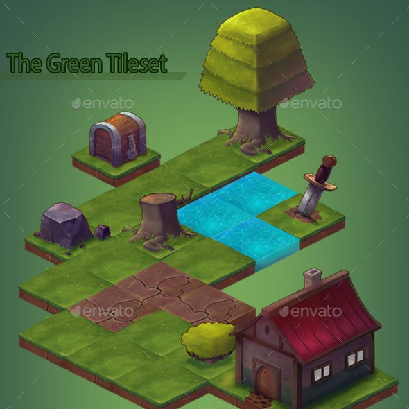 The Green Isometric Tileset