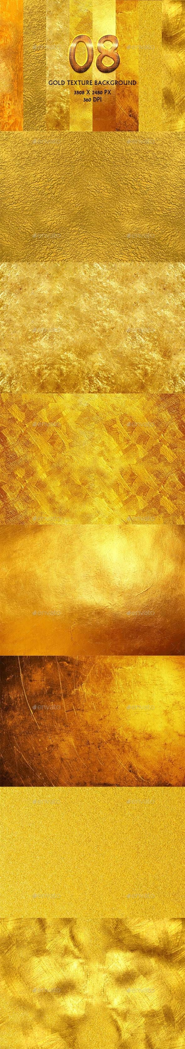 8 Gold Texture Background - Backgrounds Graphics