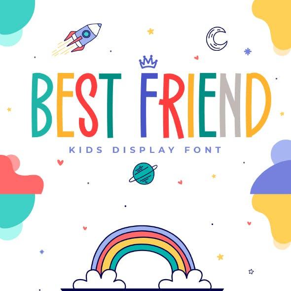 Best Friend - Kids Display Font