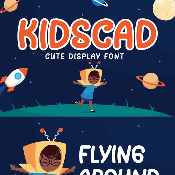 Kidscad - Cute Display Font