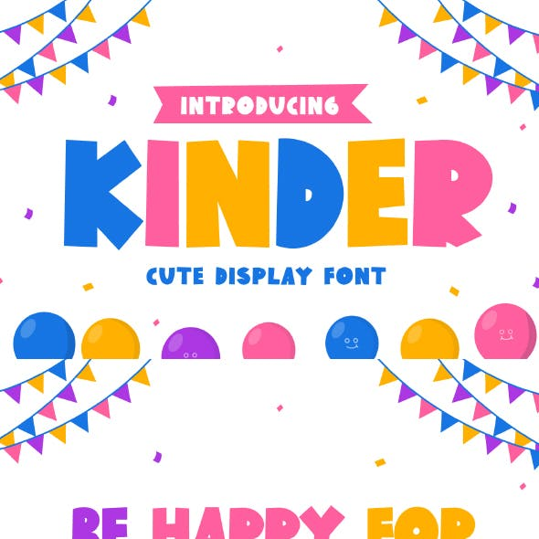 Kinder - Cute Display Font