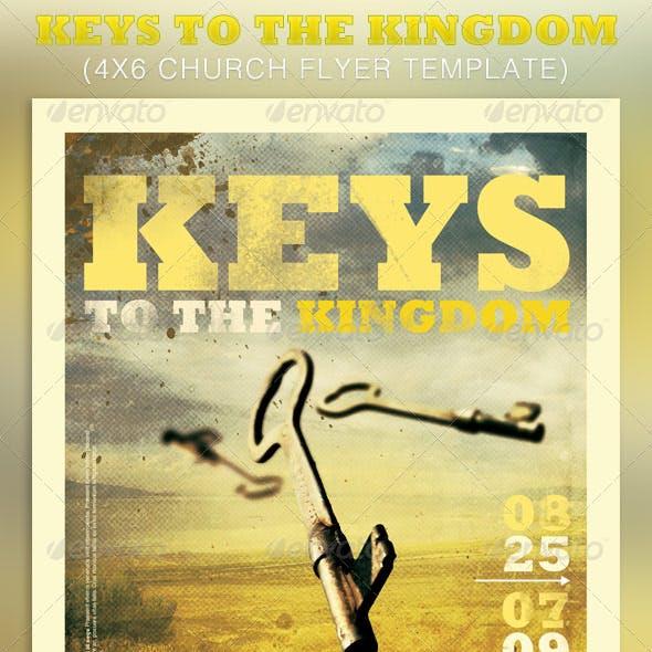 Keys to the Kingdom Church Flyer Template