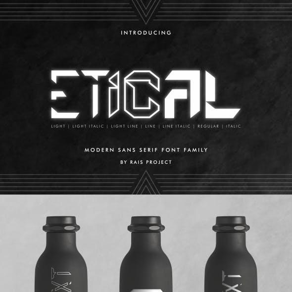 Etical Sans Serif Font