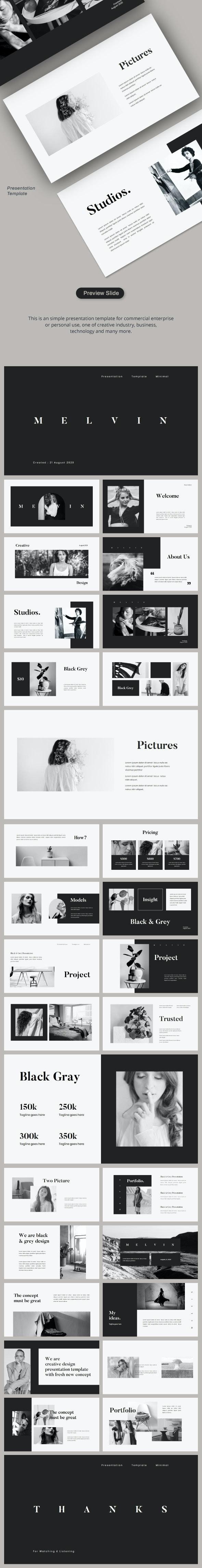 Black Grey - Google Slides - Google Slides Presentation Templates