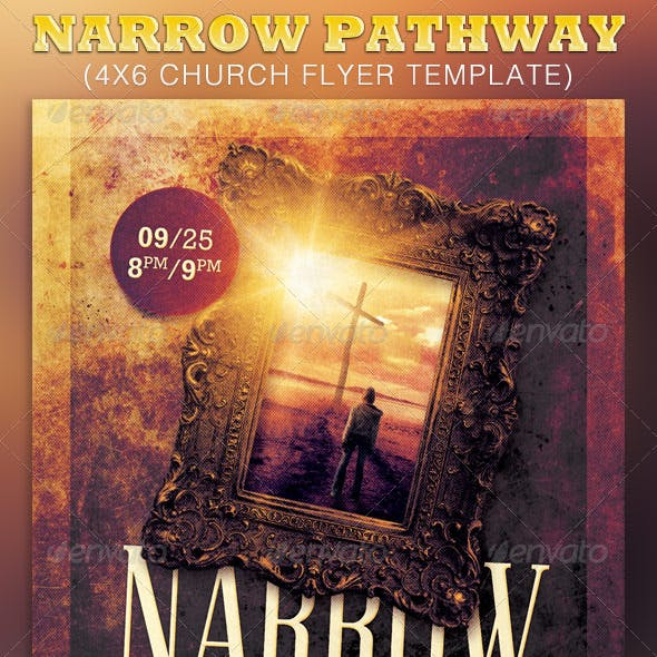 Narrow Pathway Church Flyer Template