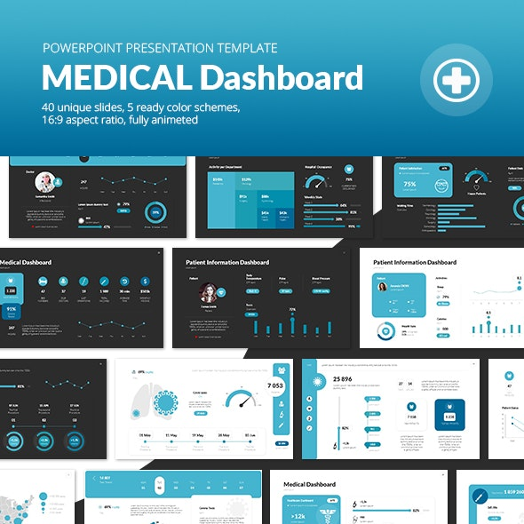 Medical Dashboard PowerPoint Presentation Template - Business PowerPoint Templates
