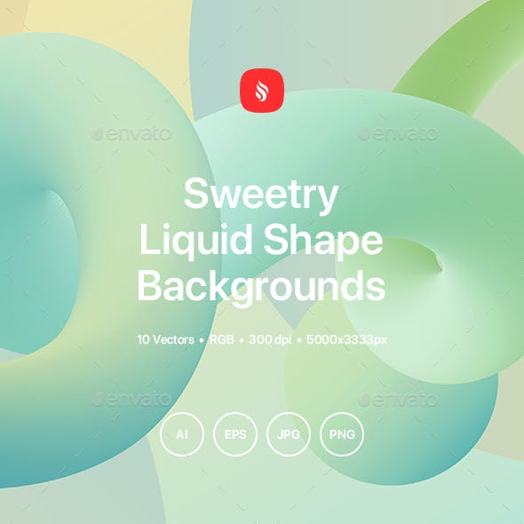 Sweetry - Liquid Shape Backgrounds