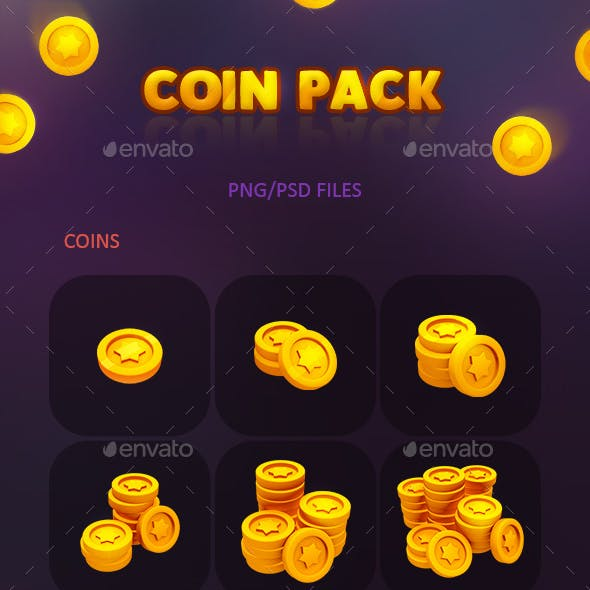 Coin Gold Pack for Games and Apps