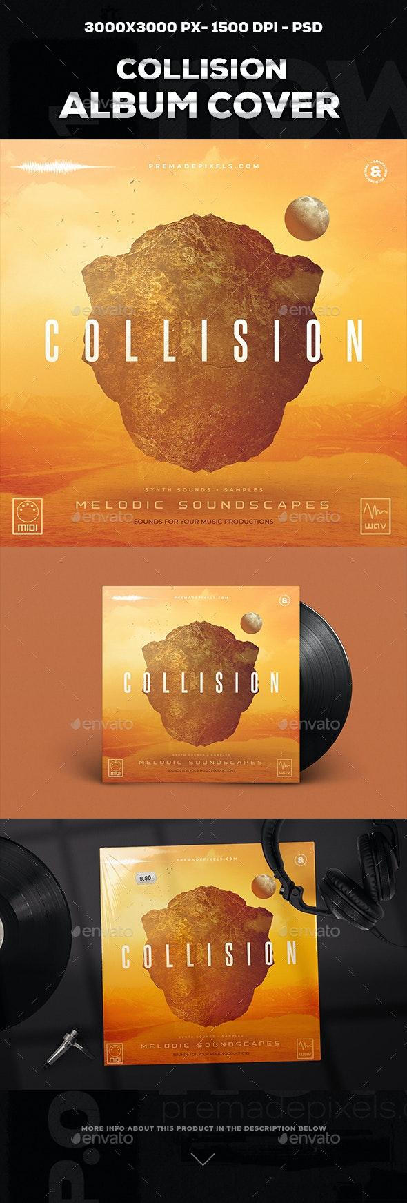 Collision Album Cover Template - Social Media Web Elements