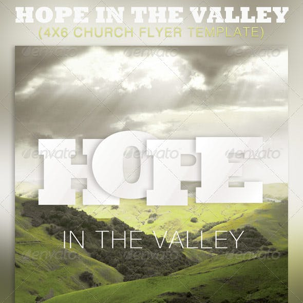 Hope in the Valley Church Flyer Template