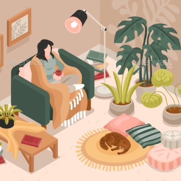 Cozy Room Illustration