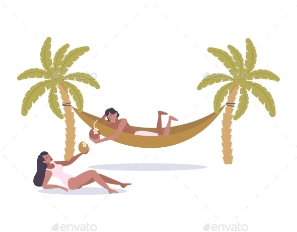 Vacation Flat Illustration - Sports/Activity Conceptual