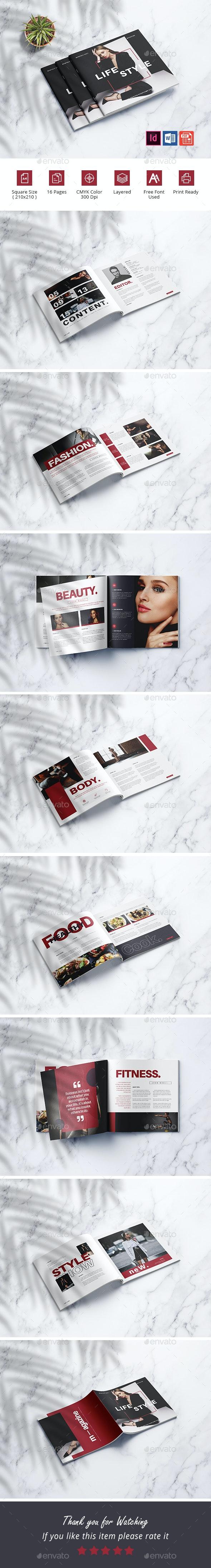 Minimalist Magazine Template - Magazines Print Templates