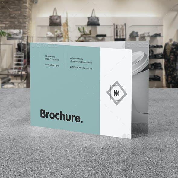 Bi-Fold A5 Brochure Mock-up