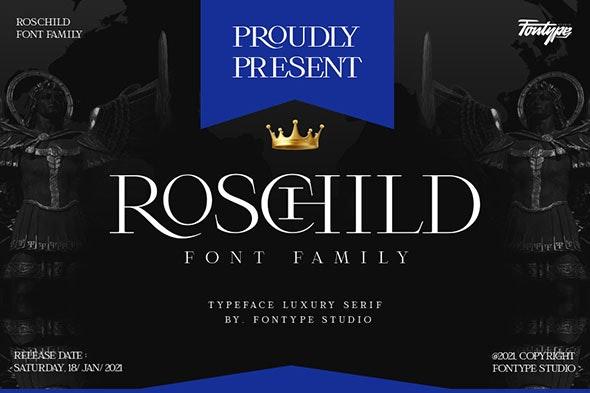 Roschild Font Family - Serif Font Style - Serif Fonts