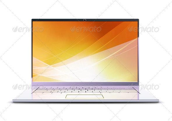 Modern laptop - Objects Vectors