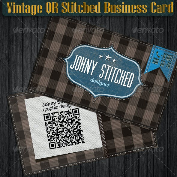 Vintage Quick Responsive Stitched Card