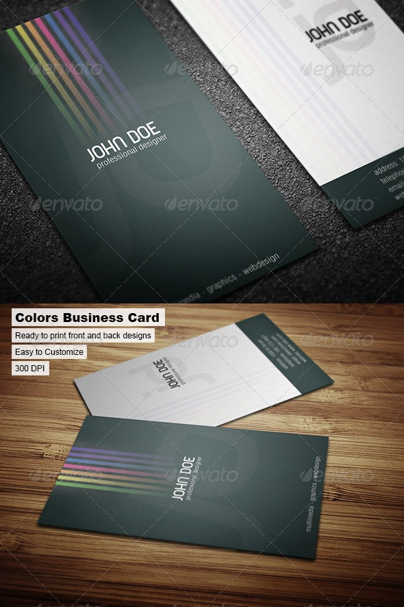 Colors Business Card - Creative Business Cards