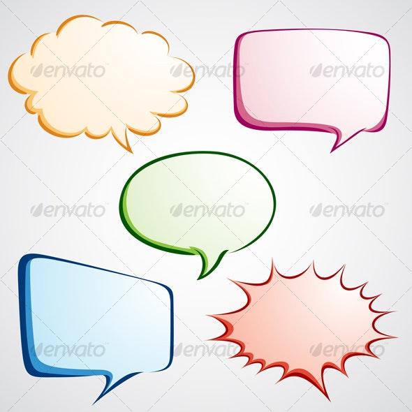 Colorful Speech Bubble - Decorative Symbols Decorative