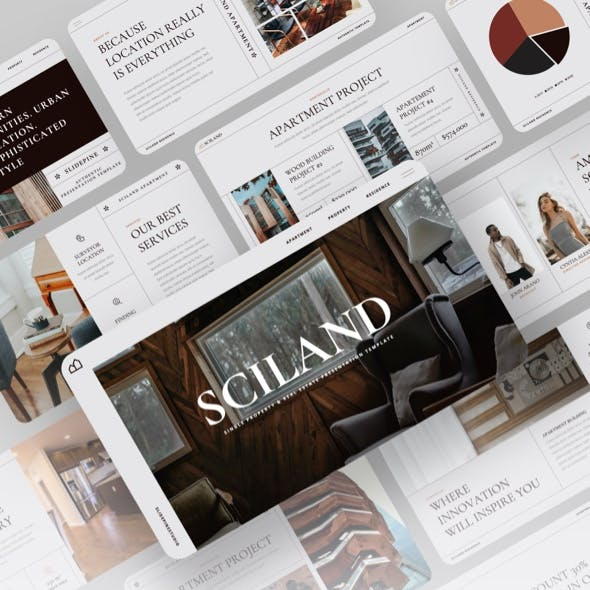 SCILAND - Single Property & Real Estate Powerpoint Template