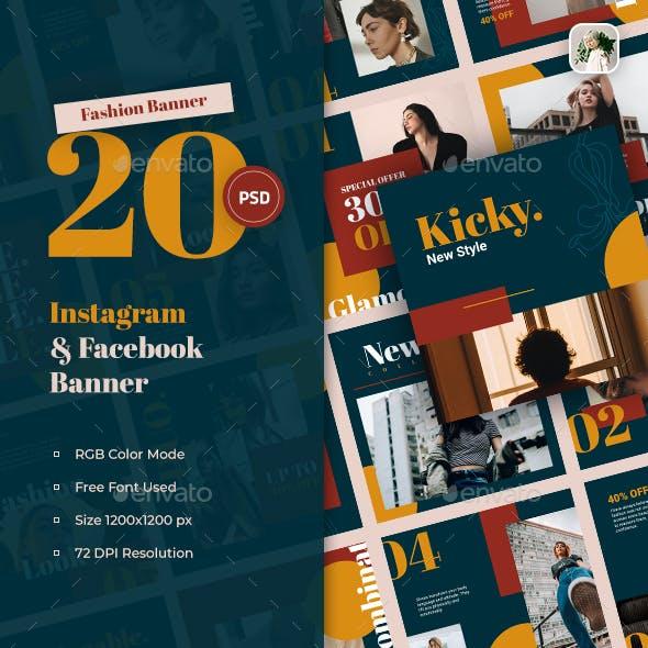Kicky Fashion Instagram & Facebook Banner