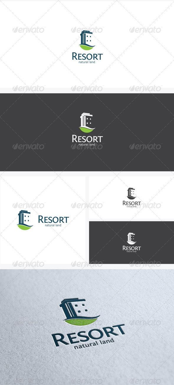Resort Logo Template - Buildings Logo Templates
