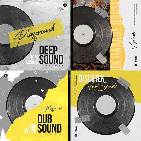 Vinyl Beats – Music Album Cover Psd Templates