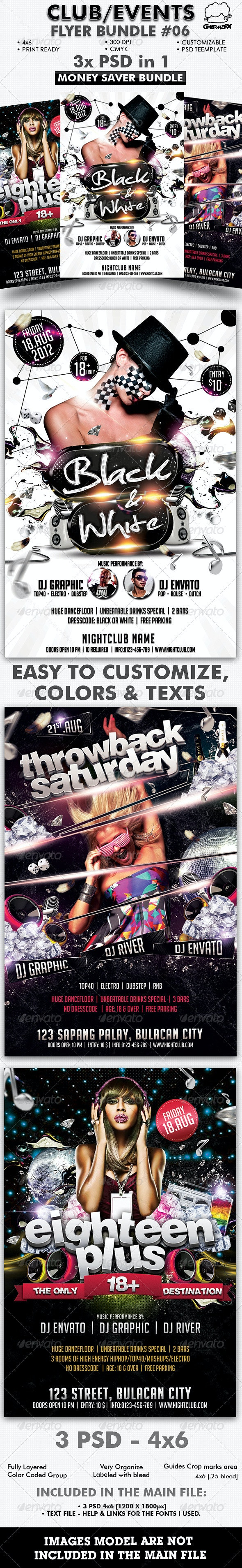 Club/Events Flyer Bundle #06 - Flyers Print Templates
