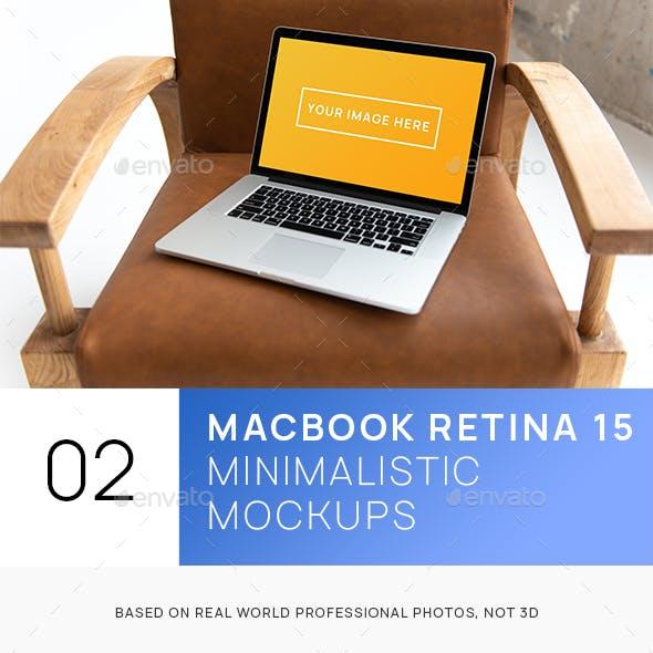 MacBook Pro Retina 15 Minimalistic Interior Hi-Res Mockup