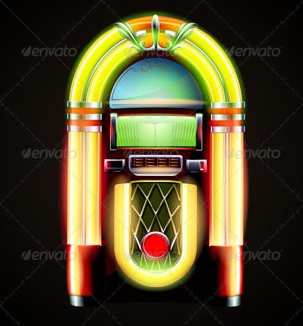Classic juke box - Retro Technology