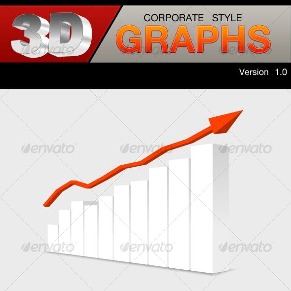 3D corporate style graphs