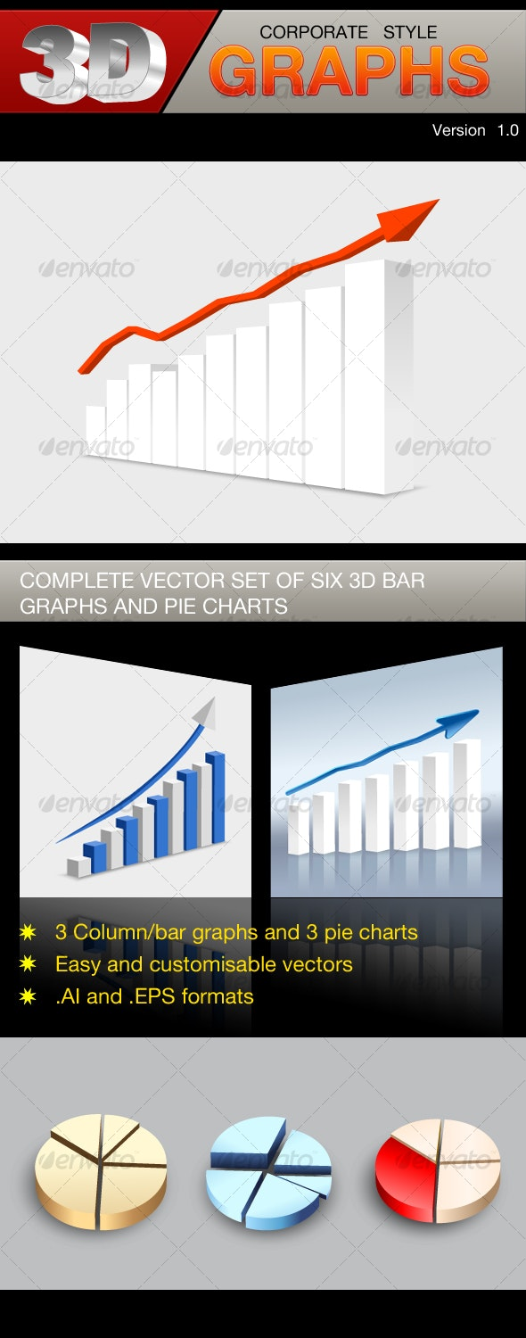 3D corporate style graphs - Concepts Business