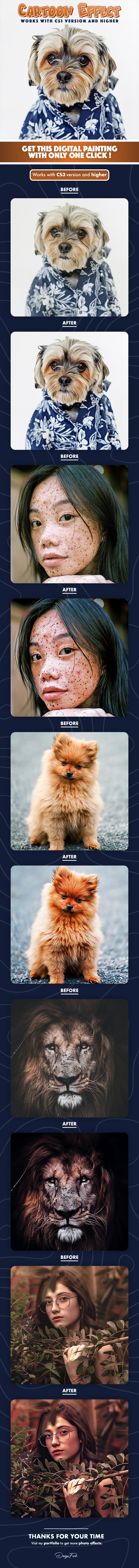 Cartoon Fx Photoshop Action - Photo Effects Actions